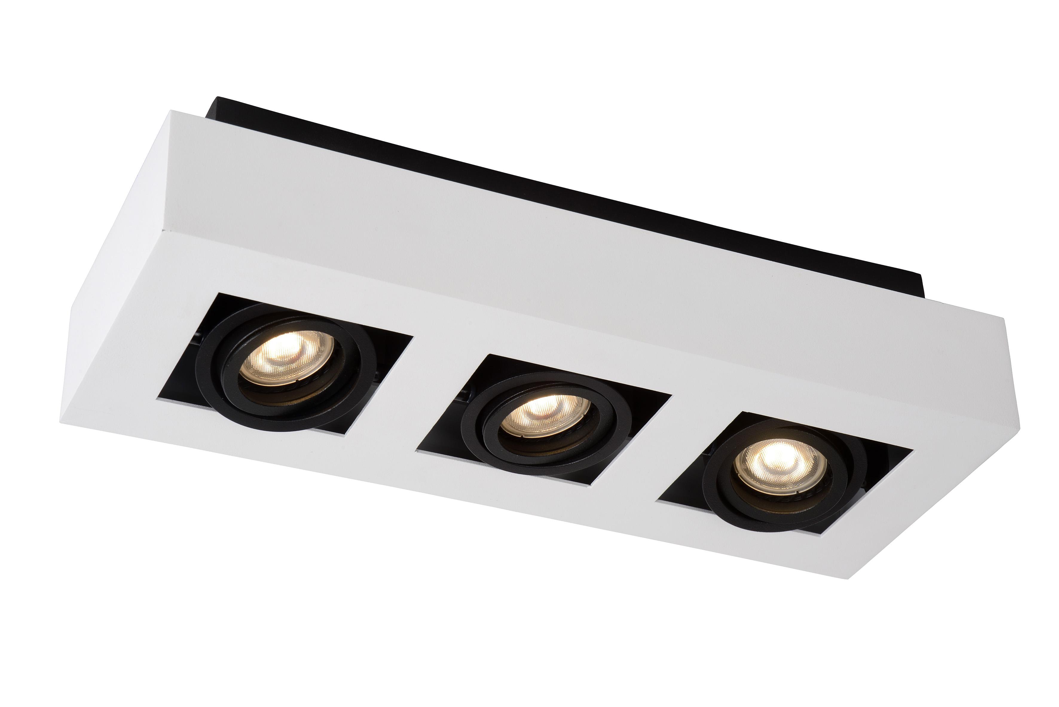 LED Dim Lucide XIRAX Spot Plafond - GU10-4x5W 3000K Blanc