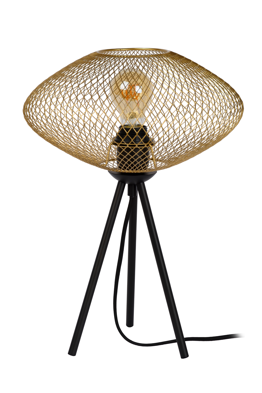 Mesh Table Lamp ø 30 Cm 1xe27 Matt Gold Brass