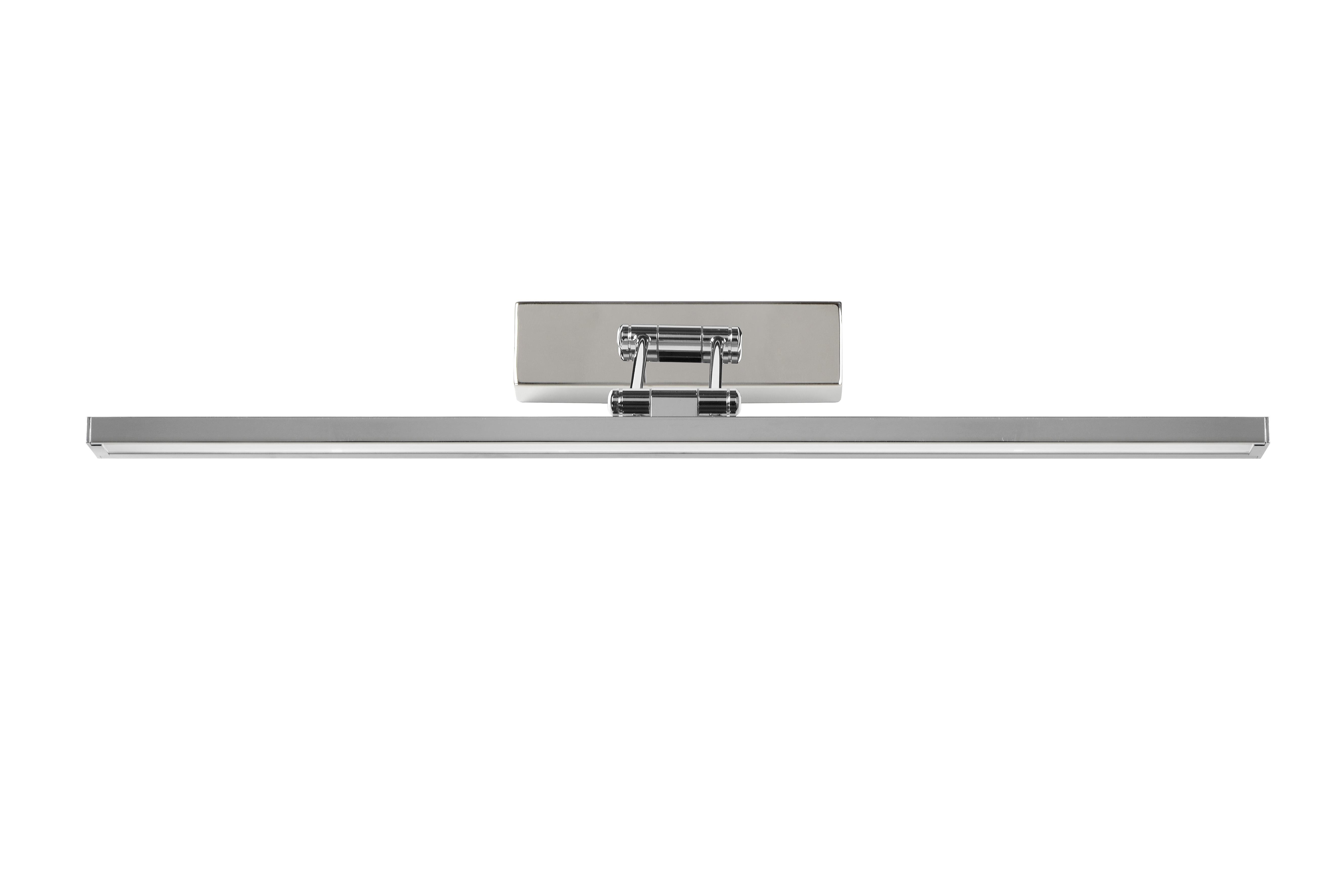 Erwan spiegelleuchte badezimmer led 1x12w 3000k ip21 chrom - Spiegelleuchte badezimmer ...