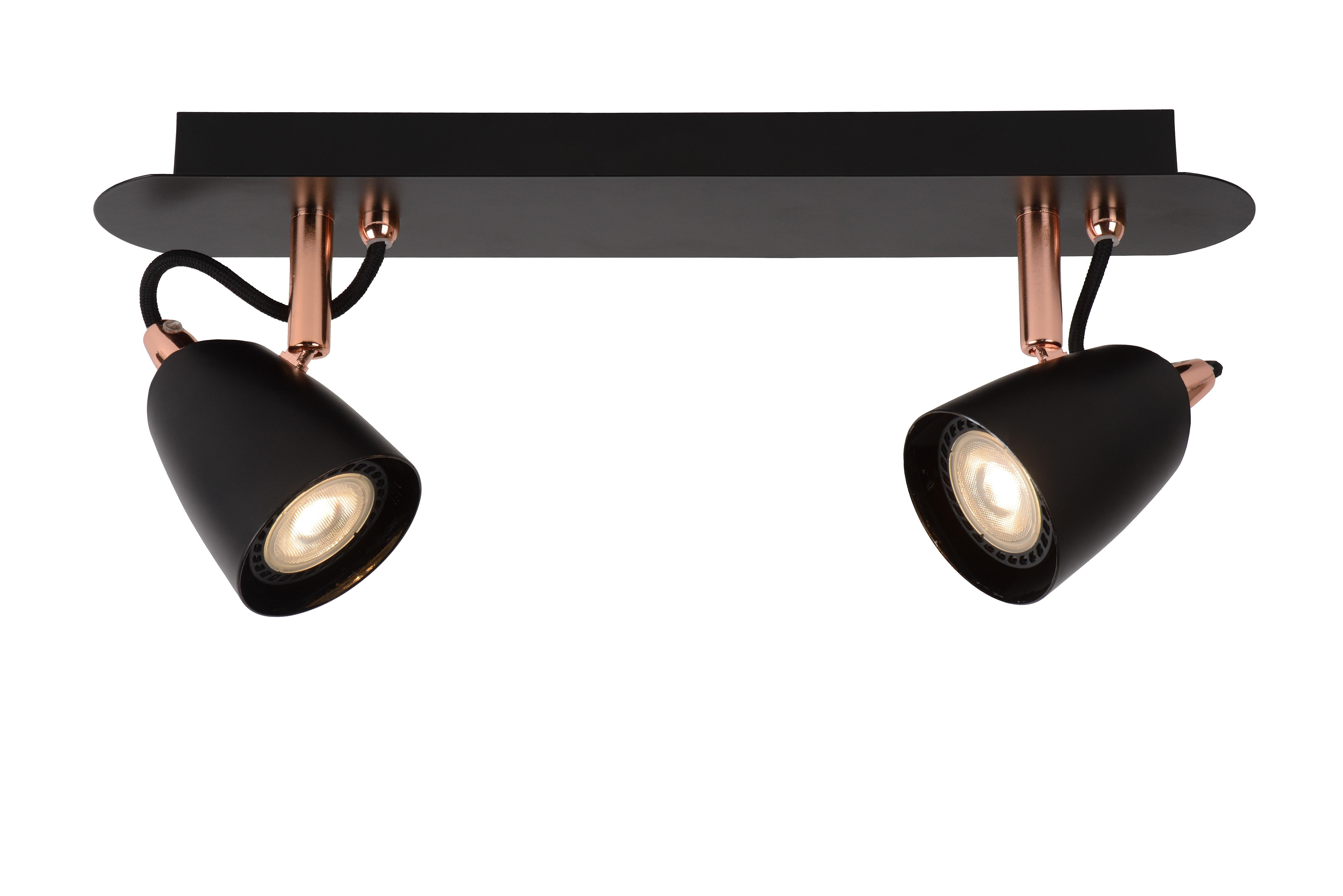 - GU10-3x5W 3000K Spot Plafond Cuivre /Ø 25 cm Lucide RIDE-LED LED Dim