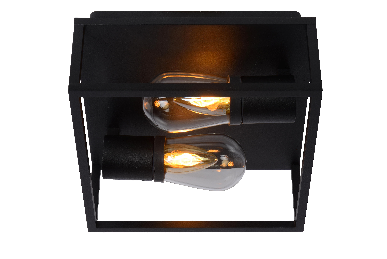 CARLYN - Deckenleuchte Badezimmer - E14 - IP54 - Schwarz