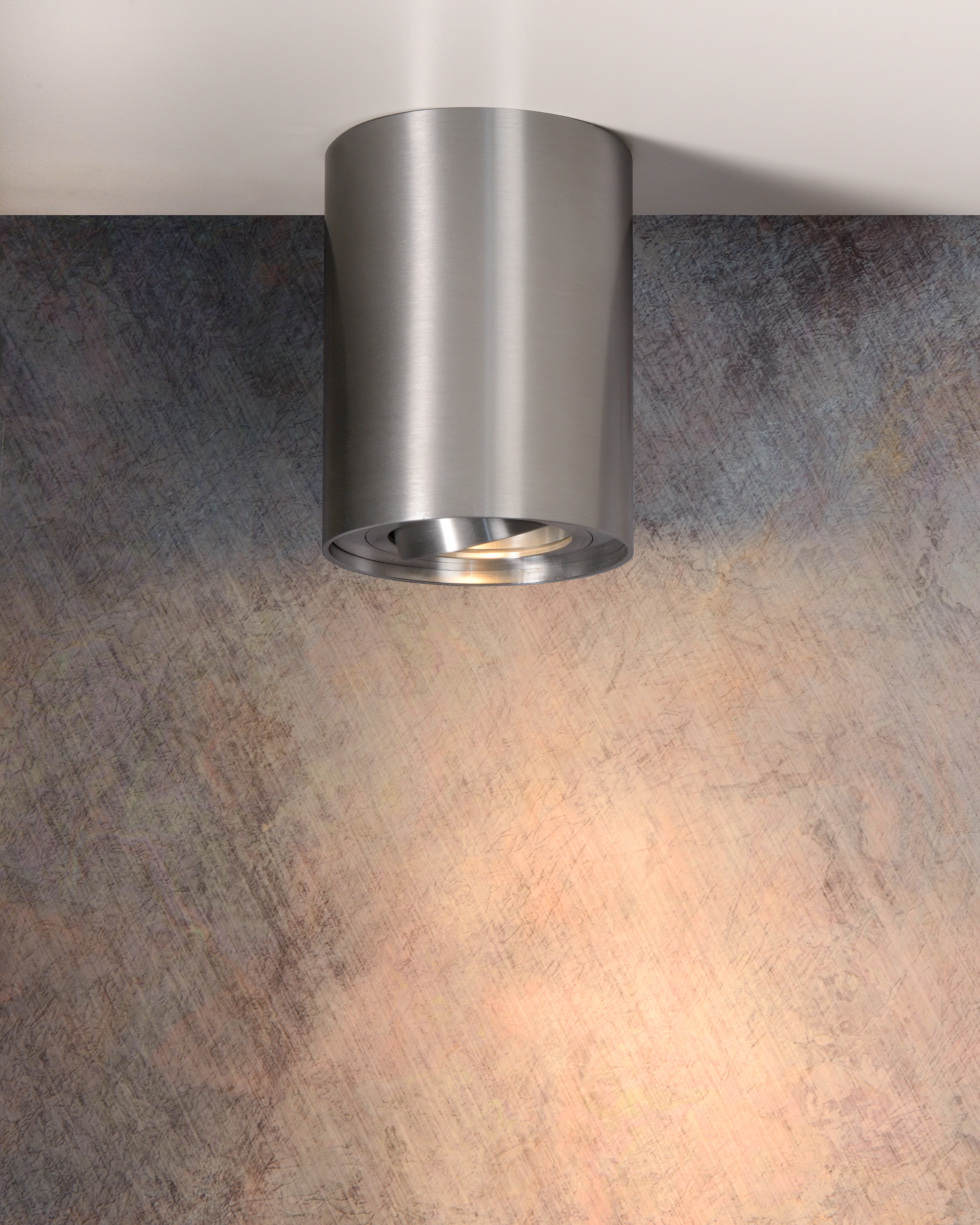 Tube Ceiling Spotlight O 9 6 Cm 1xgu10 Satin Chrome