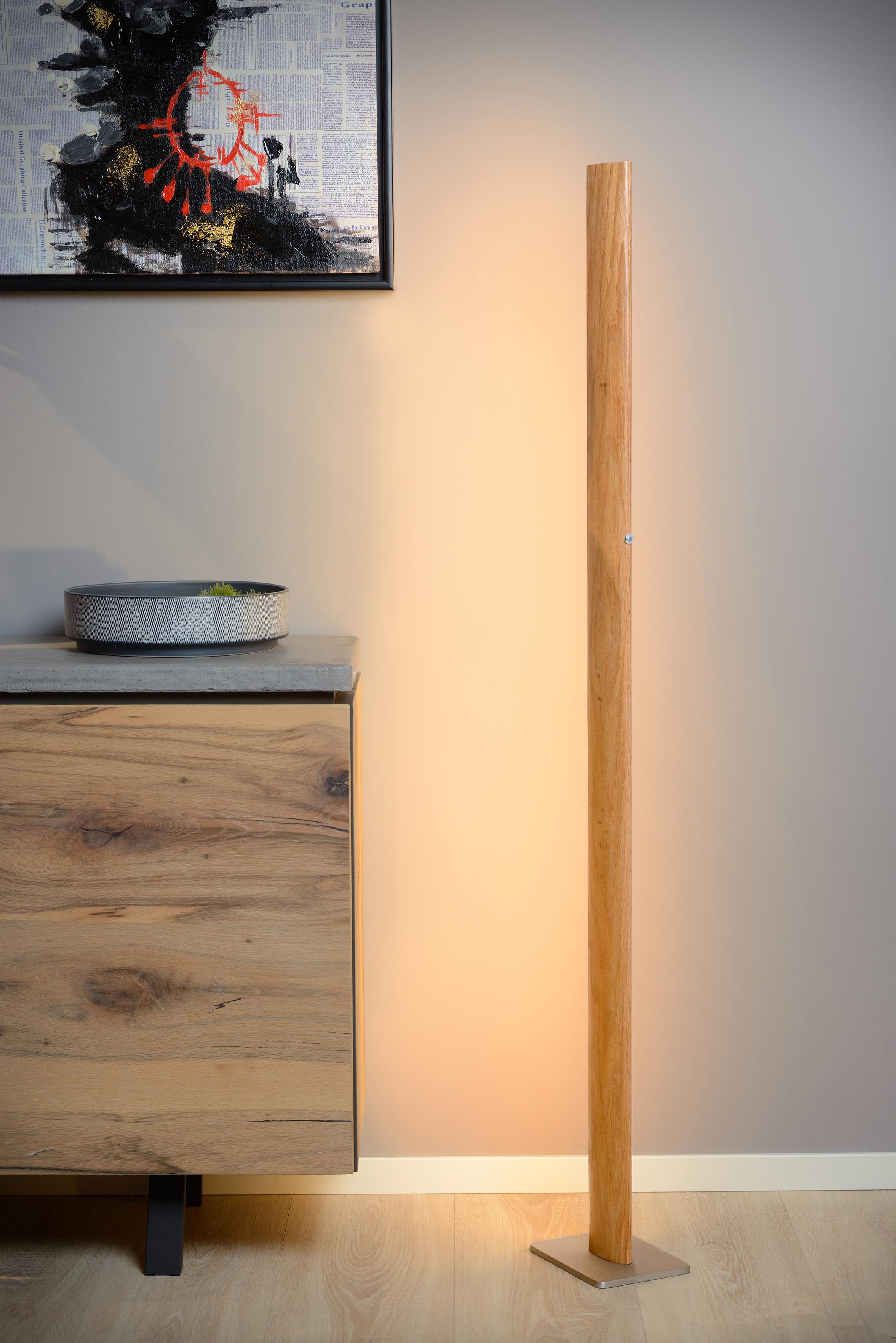 Sytze Stehlampe Led Dim 1x30w 3000k Helles Holz