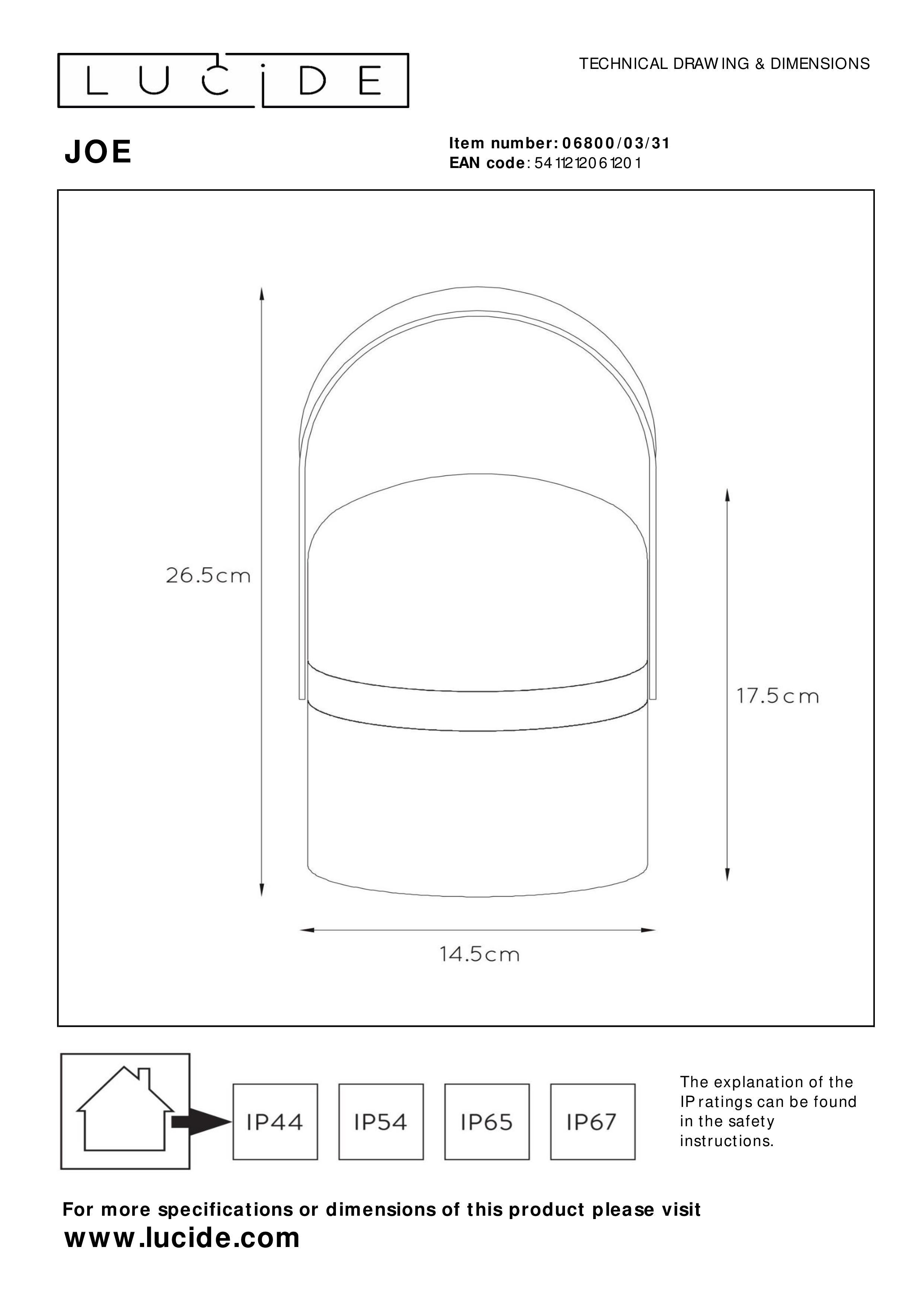 joe - table lamp outdoor -  u00d8 14 5 cm - led dim