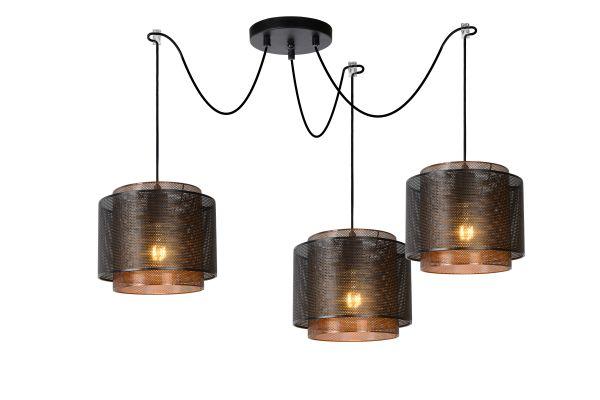 orrin hanglamp 25 cm zwart